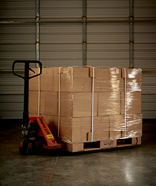 Green Ox Corrugated Pallets - Tied and Tiered Load